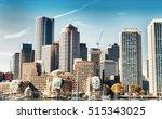 Stock photo boston skyline from the sea 515343025