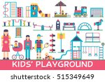 kids playground field with many ... | Shutterstock .eps vector #515349649