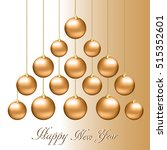christmas background with gold... | Shutterstock .eps vector #515352601
