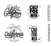 california related t shirt... | Shutterstock .eps vector #515353741