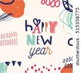 hand drawn christmas design...   Shutterstock .eps vector #515358775