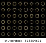 a huge rosette wicker border... | Shutterstock .eps vector #515364631