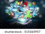 businessman connecting tech...   Shutterstock . vector #515365957