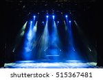 free stage with lights ... | Shutterstock . vector #515367481