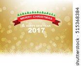 gold christmas background... | Shutterstock .eps vector #515368384