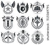 luxury heraldic vectors emblem... | Shutterstock .eps vector #515369791