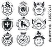 heraldic coat of arms... | Shutterstock .eps vector #515370265