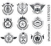 heraldic coat of arms... | Shutterstock .eps vector #515370325