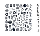 vector pixel icons isolated ... | Shutterstock .eps vector #515370505