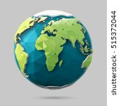 vector earth globe illustration.... | Shutterstock .eps vector #515372044