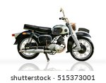 Classic Motorbike Isolated On...