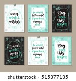 set winter and holidays... | Shutterstock .eps vector #515377135