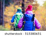 man and woman couple hikers... | Shutterstock . vector #515380651