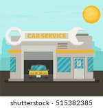 vector car service flat. | Shutterstock .eps vector #515382385