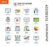 color flat line icons set of... | Shutterstock .eps vector #515382529