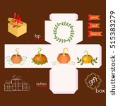 printable gift box with... | Shutterstock .eps vector #515383279