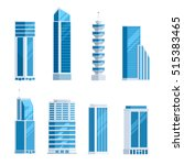 set skyscrapers buildings.... | Shutterstock .eps vector #515383465
