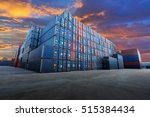 industrial container yard  for... | Shutterstock . vector #515384434