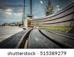 Park Wooden Bench. Outdoor...