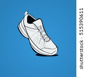 sneakers  casual shoes icon. | Shutterstock .eps vector #515390611