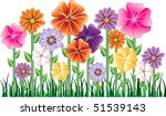 vector illustration of a flower ... | Shutterstock .eps vector #51539143