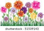 vector illustration of a flower ... | Shutterstock .eps vector #51539143