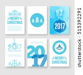 happy new year 2017 and merry...   Shutterstock .eps vector #515392291