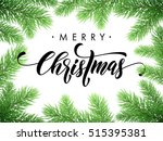 merry christmas greeting card ... | Shutterstock .eps vector #515395381