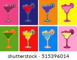 set of colored cocktails vector ... | Shutterstock .eps vector #515396014
