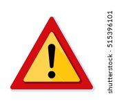 exclamation danger sign | Shutterstock . vector #515396101