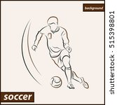 illustration shows a football... | Shutterstock . vector #515398801
