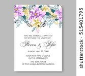 wedding invitation or card with ... | Shutterstock .eps vector #515401795