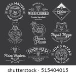 vector handmade and wood cooked ... | Shutterstock .eps vector #515404015