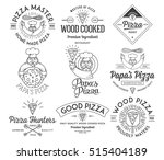 vector handmade and wood cooked ...   Shutterstock .eps vector #515404189