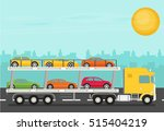 transport truck on the road... | Shutterstock .eps vector #515404219