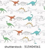 dinosaur seamless pattern. baby ... | Shutterstock .eps vector #515404561