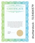 certificate. template diploma... | Shutterstock .eps vector #515404579