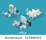 flat 3d isometric abstract... | Shutterstock . vector #515406541