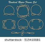set of rope loop and frames.... | Shutterstock .eps vector #515410081