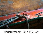 Small photo of Rope for mooring a vessel is adhered to loop.
