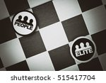 Small photo of People vs Elite - Draughts (Checkers) - Break up of society and tension between classes. Privileged, well-educated, rich class vs working class (vignetting, dramatic exposure, muted blacks)