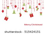 christmas greeting card with... | Shutterstock . vector #515424151