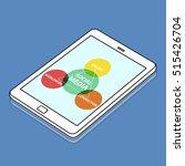 social media worldwide diagram... | Shutterstock . vector #515426704