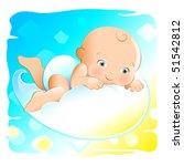 flying baby | Shutterstock .eps vector #51542812