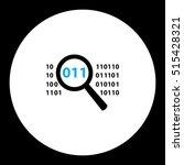 simple black magnifier analyze...   Shutterstock .eps vector #515428321