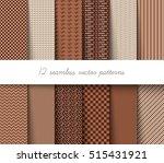 twelve seamless vector... | Shutterstock .eps vector #515431921