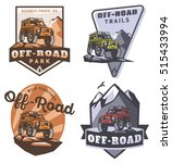 set of off road suv car... | Shutterstock .eps vector #515433994