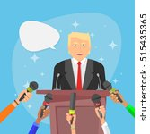 donald trump vector... | Shutterstock .eps vector #515435365