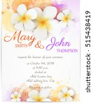 wedding invitation template... | Shutterstock .eps vector #515438419