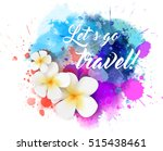 abstract travel background with ... | Shutterstock .eps vector #515438461